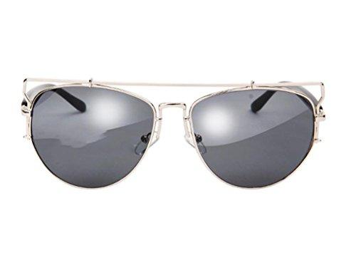 Sunglasses Lunettes Protection Vintage X9 Soleil Eyewear amp; De 4 amp;lunettes Hollow couleur 6 Lym Metal xwvqCw