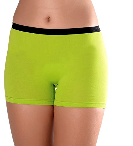 Women's 3 Pack Comfortable Cotton Bike Yoga Boxer Brief Boyshort (X-Large, Earth)