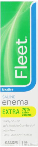 Fleet Enema Extra Saline Laxative, 7.8 oz. (Pack of - Enema Saline Laxative