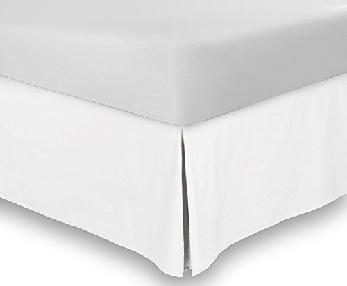 Utopia Bedding Bed Skirt - Soft Quadruple Pleated Dust Ruffle - Easy Fit with 16 Inch Tailored Drop - Hotel Quality, Wrinkle, Shrinkage and Fade Resistant (King, White)
