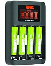 100% Peak Power batterij oplader U412 - Milieubewuste Keuze - USB batterijlader incl. oplaadbare batterijen NiMH batterij AAA 800 mAh