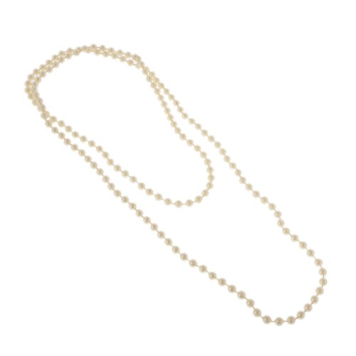 MonkeyJack Long Pearls Necklace 1920s Great Gatsby Party Girls Fancy Dress Up Yellow -