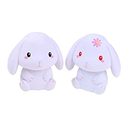 HTDBKDBK Adorable Jumbo Rabbit Slow Rising Cream Scented Stress Relief Toys Party Favor Treasure Box Classroom Prizes Christmas Birthday Gift: Toys & Games