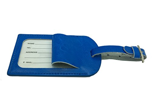AVIMA BEST Premium Leather Luggage Tags 2pcs Set With Addres