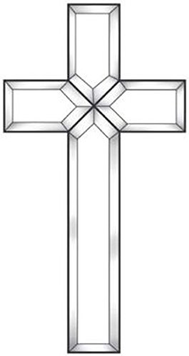 Exquisite Cluster Clear Small Beveled Glass Cross