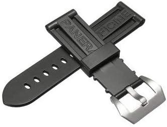 Correa de reloj de pulsera de 24 mm de silicona para PANERAI – Reloj inteligente y accesorios de correa y reloj – 1 correa de reloj (con hebilla): Amazon.com.mx: Herramientas y Mejoras del Hogar