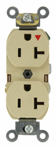 Isolated Ground Outlet (Leviton 5362-IGI 20-Amp, 125 Volt, Industrial Series Heavy Duty Specification Grade, Duplex Receptacle, Straight Blade, Isolated Ground, Ivory)
