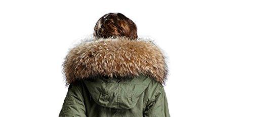 piel nbsp;colores 11 XXL Cuello Parka Capucha Cuello de naturaleza Desmontable bufanda abrigo xxgqHn1
