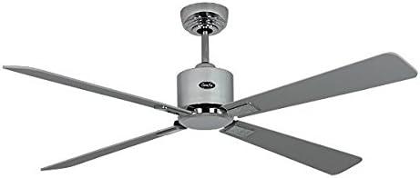Ventilador de techo de bajo consumo Eco Neo II 132 cm cromo cepillado con alas blanco/gris claro: Amazon.es: Hogar