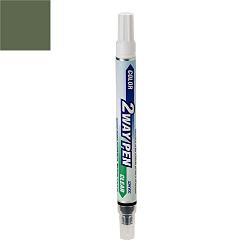 ExpressPaint 2WayPen - Automotive Touch-up Paint for Jeep Liberty - Jeep Green Effect Clearcoat PGJ - Color + Clearcoat Only