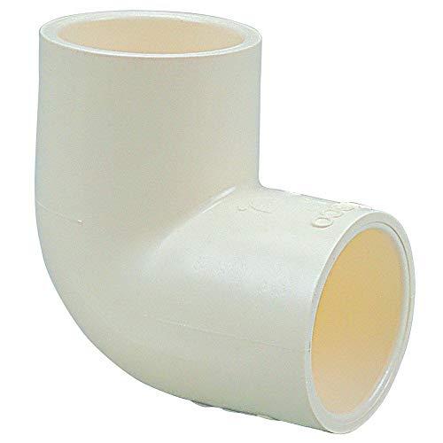 Evertuff 4106 Molded Solvent Weld Pipe Elbow, 90 Deg, 1/2 Inch, Socket, 100 Psi, Cpvc, Tan (Cpvc Elbow 1/2 Deg 90)