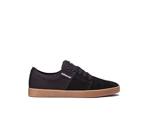 Supra Stacks II Skate Shoe, Black-Gum, 11 Regular US by Supra