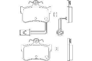 Rear Pad Brake Mintex (Replacement Mintex Rear Brake Pads (Full set for Rear Axle) MDB1343)