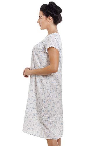 Home Cfhjn Da Maniche Corte Camicia Floreale Blu Donna Notte A c5jL3Aq4RS