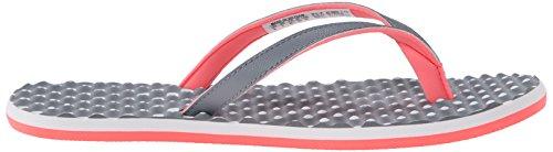 adidas Performance Eezay Dots Sportliche Zehentrenner Sandale - Damen Grau / Weiß / Flash Rot Silber