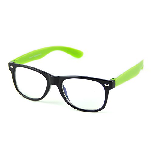 Cyxus Blue Light Blocking Glasses for Kids and Teens Anti Eyestrain Eyewear, Green - And Blue Light Glasses Blocking Green