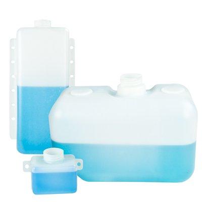 3 Quart Natural High Density Polyethylene Tank w/Mounting Tabs 8.50'' L x 8.50'' W x 4.25'' H (2.25'' Neck)