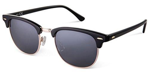 JAVIOL Round Sunglasses for Women Men Vintage Retro Mirrored Sunglasses with Case uv400