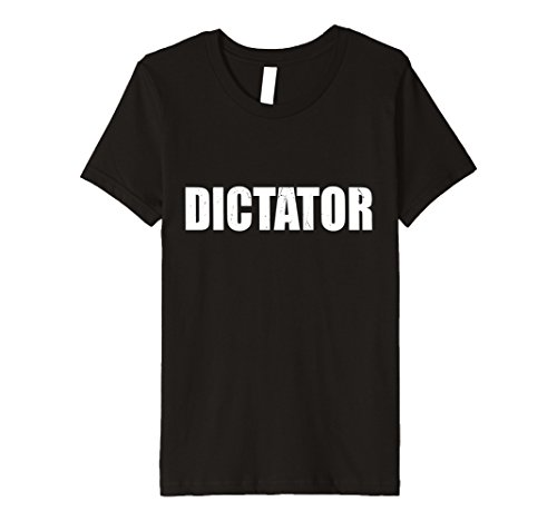 Dictator Costume Girl (Kids Dictator T Shirt Halloween Costume Funny Cute Distressed 6 Black)