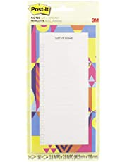 """Post-it Notes Sticky Notes List Pad with Magnet, 3.8"""" x 7.8"""", 50 Sheets, Optimistic Brights"""
