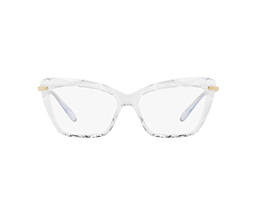 (Dolce&Gabbana DG5025 Eyeglass Frames 3133-53 - Crystal DG5025-3133-53)