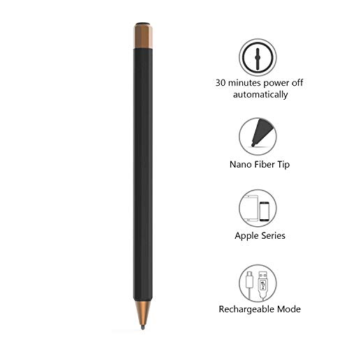 Abida Stylus Compatible for Apple iPad, Upgrade 30 Mins auto-Off Rechargeable High-Sensitivity Active styli Smart Pencil Digital Pen for iOS Devices Such as iPad, iPhone, iPad Pro - Brown
