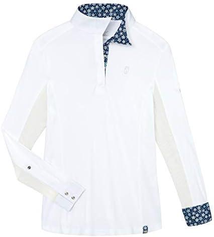 Tredstep Ladies' Symphony Paris Competition Shirt, X-Large, White/Nebula Blue