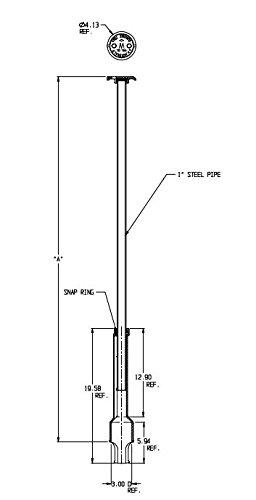 AY McDonald 5601LR 6 Foot Arch Curb Box, Less Rod
