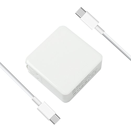WEETEN 65W 20V 3.25A USB-C AC Power Adapter Charger for MacBook 12'', MacBook Pro 13'', with USB-C to USB-C 5A Cable, USB PD by WEETEN