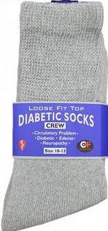 K&A Company Socks Diabetic Crew Women Pair Cotton Size 10-13 Case Pack 240