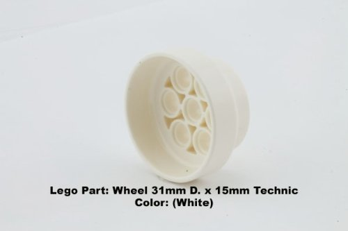 Lego Parts: Wheel 31mm x 15mm Technic (White)
