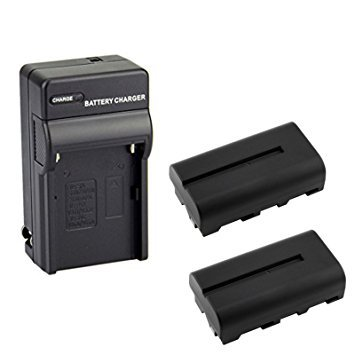 D&F NP-F550 NP-F570 Li-ion Replacement Battery(2 Pack) with Recharge Charger for Sony NP-F550/570 Camcorder LED Video Light by D&F