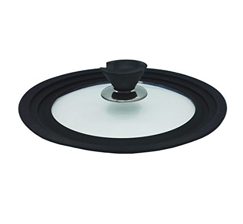 """Xinowe Universal Tempered Silicone Glass Lid,glass pan lid,pot lid,Fits 7"""", 7.8"""", and 8.7"""" diameter (18cm, 20cm, and 22cm) pots and pans (small)"""