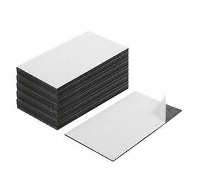 Etichette Magnetiche Adesive 8cmx5cm–Set di 50pcs, spessore 0.8mm 123-magnet