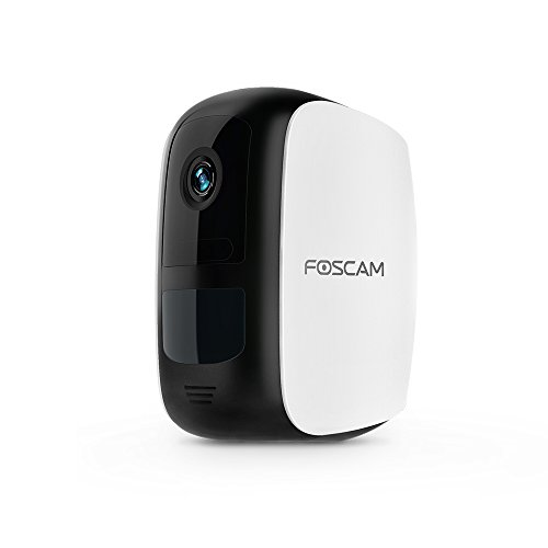 Foscam B1 Add-on Wire-Free Home Security Camera, Wireless Rechargeable Battery Powered WiFi Camera, Full HD 1080P, Outdoor/Indoor, Night Vision, Two-Way Audio, Existing Foscam E1 Base Station required