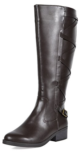 TOETOS Women's Ankor Brown Fashion Knee High Riding Boots Size 9.5 M US