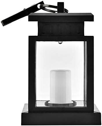 Ymiko Lanterna a lume di Candela Solare da Esterno, Lanterne a Candela Decorative Impermeabili per Giardino, Patio, Prato