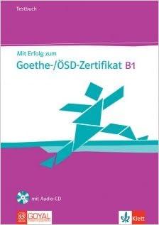 Buy Mit Erfolg Zum Goethe ösd Zertifikat B1 Testbuch With Cd Book