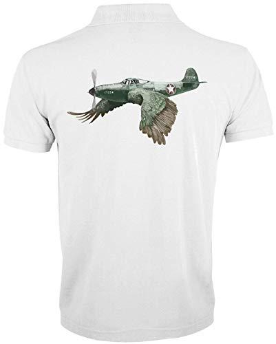 Générique Military Plane Bird Graphic Funny T-Shirt Polo Homme 1