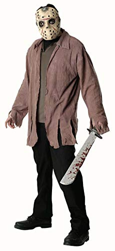 Scary Jason Costume (Friday The 13th Jason Costume, Brown,)