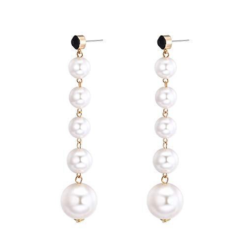S925 Fashion Bohemia Chandelier Pearl Tassel Link Fringe Girls Women Sexy Round Pierced Earrings Ear Studs Creative Long Style Jewelry