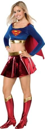 (Rubie's Costume Co Women's DC Superheroes Supergirl Teen Costume, Multi,)