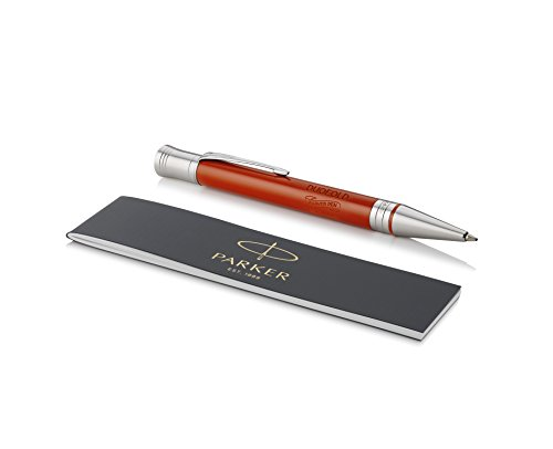 - PARKER Duofold Ballpoint Pen, Classic Big Red Vintage with Medium Point Black Ink Refill