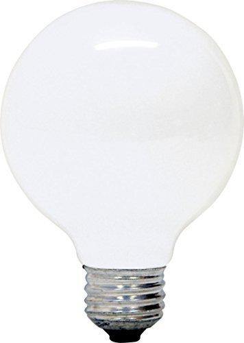 GE 12979-6 G25 Incandescent Soft White Globe Light Bulb, 40-Watt, 8-Pack