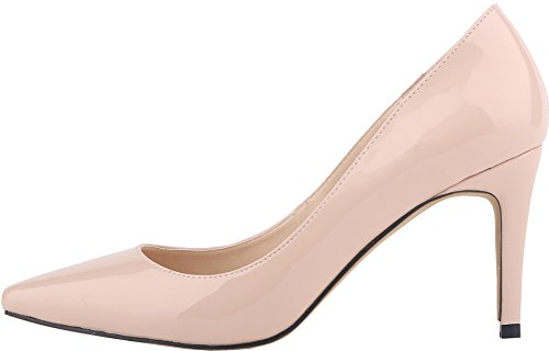 Toe Womens Slide YSE Shallow Simple Heel Skid Convenient 1QP Court Slip CFP Office Party Mouth Fashion Fresh Nude On 952 Charming Mid Non Business Shoes Breathable Pointed Ozdqpwft
