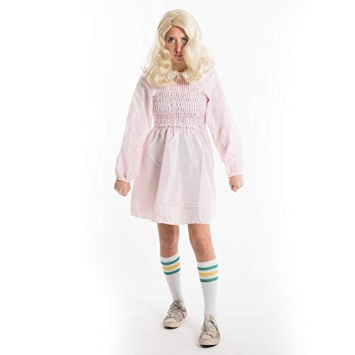 Bodysocks Female Adult Eleven Pink Dress Fancy Dress Costume -