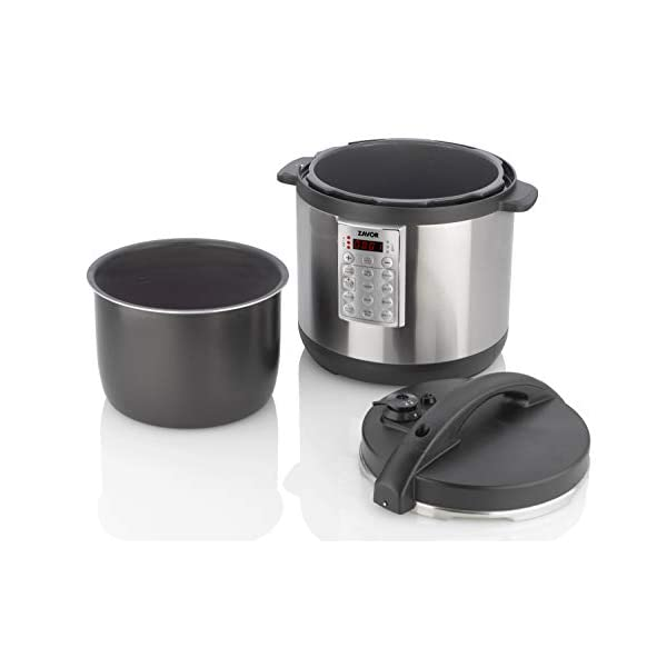 Zavor Select 6 Quart Electric Pressure Cooker and Rice Cooker with Non-stick Inner Cooking Pot and Brushed Stainless… 4