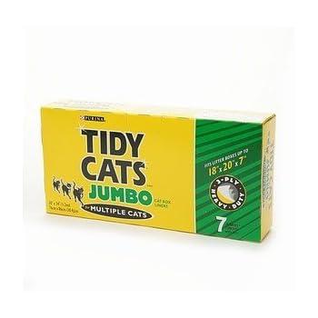 Amazon Com Tidy Cats Jumbo Box Liners 7 Ea Pet Litter