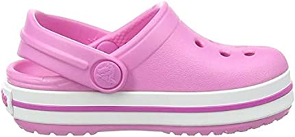 Crocs Kids' Classic Slipper | Comfortable Slip On Fuzzy Slippers for Kids, Party Pink, 9 US Toddler
