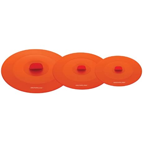 Rachael Ray Accessories 3 Piece Top This Suction Lid Set Orange